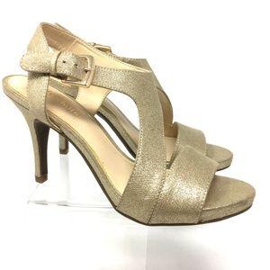 Kelly & Katie Women's Sandals Shoes Size 6.5 Gold